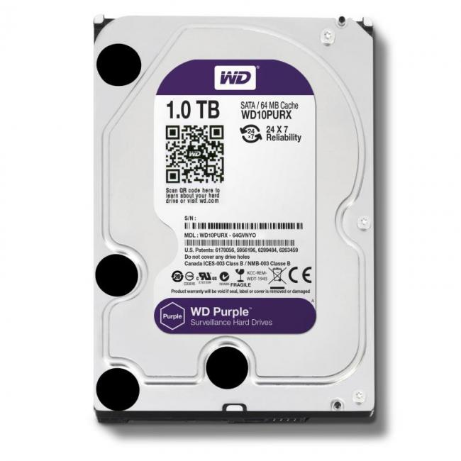 Image of 1000GB, WD Purple AV, WD10PURX