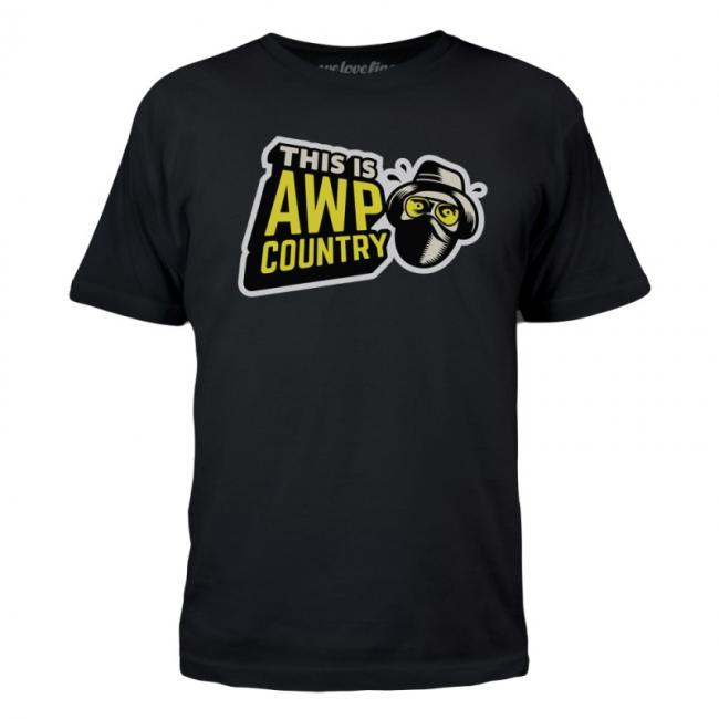 Image of CS:GO T-Shirt AWP Country Black, Size M