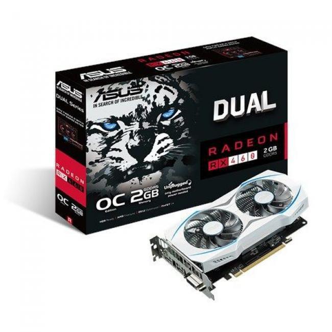 Image of ASUS DUAL-RX460-O2G, 2GB GDDR5