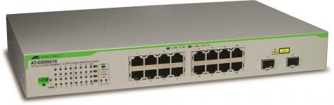 Image of Allied Telesyn GS950, 16-port Gigabit WebSmart with 2 combo SFP ports, 990-003645-50