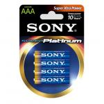 Image of Sony Alkaline R03 Stamina Platinum 4 pcs blister AAA, AM4PTB4D