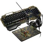 Image of CANYON 4in1 Gaming set, Keyboard + Mouse + Headphones + Mousepad, CND-SGS03M-US