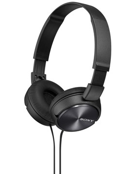 Image of SONY MDR-ZX310, Black, MDRZX310B.AEE