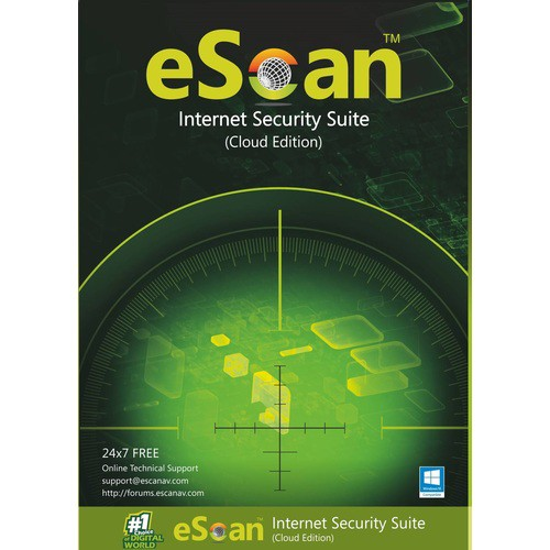 Image of eScan Internet Security Suite with Cloud Security, 3 user, ES-03ISSV14-3