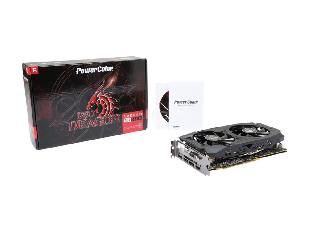 Image of PowerColor RX580 OC, 4GB GDDR5, AXRX580 4GBD5-3DHDV2/OC
