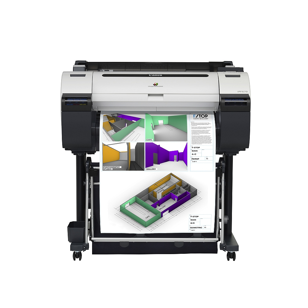 Image of CANON imagePROGRAF iPF670, Ink + Printer Stand ST-27, 9854B003AB_1255B023BA