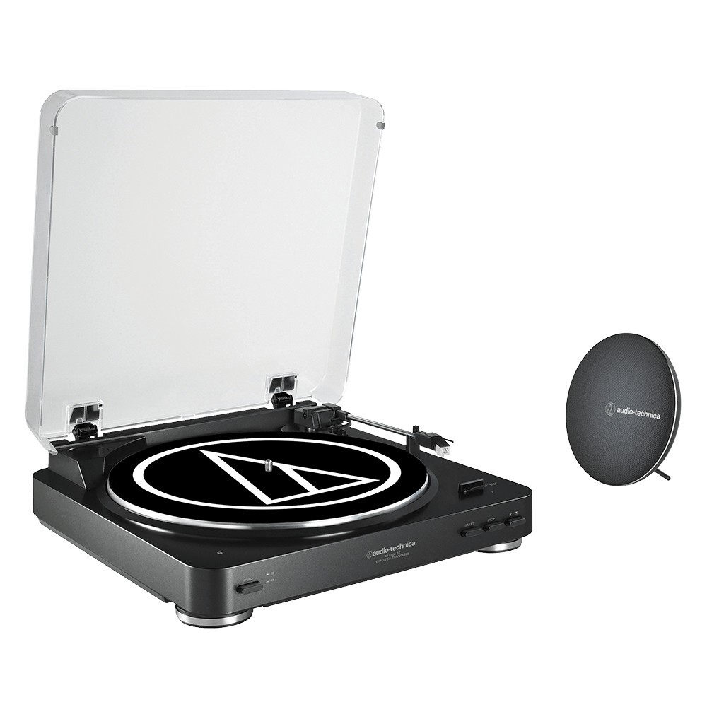 Image of Audio-Technica AT-LP60SPBTBK, Stereo Turntable and Speaker